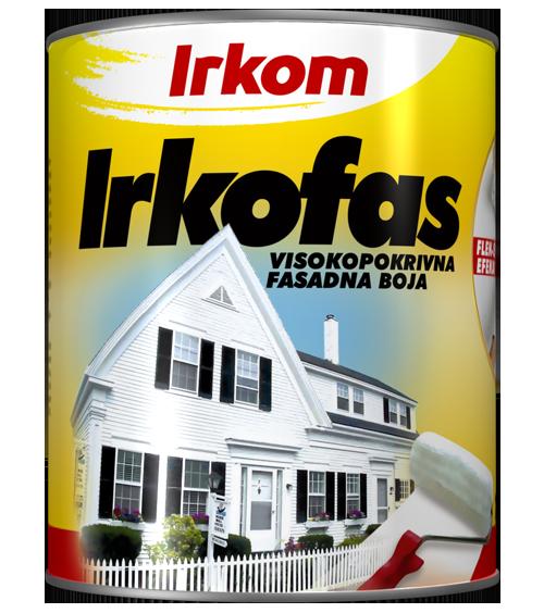 Irkom IRKOFAS - visokopokrivna fasadna boja